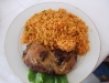 jollof rice and chicken