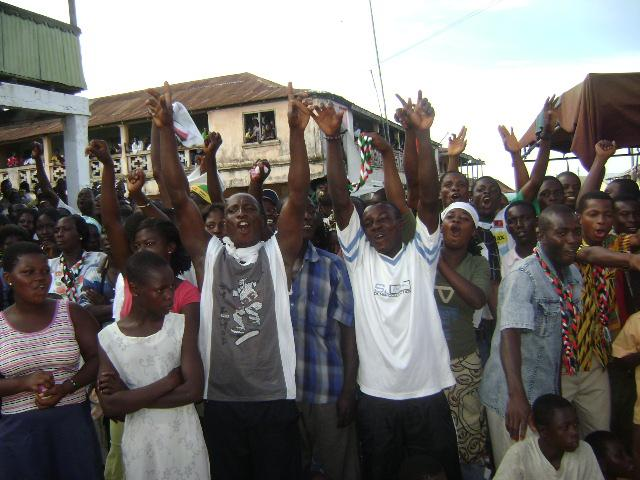 Jubilant supporters
